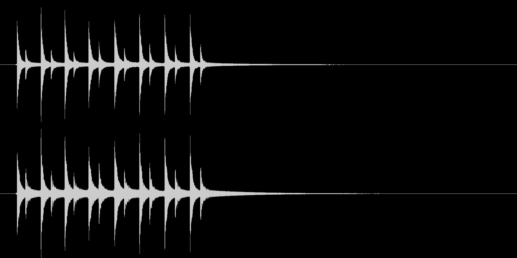 ピンポンピンポンピンポン!の未再生の波形