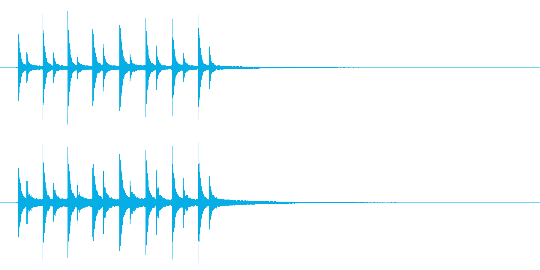 ピンポンピンポンピンポン!の再生済みの波形