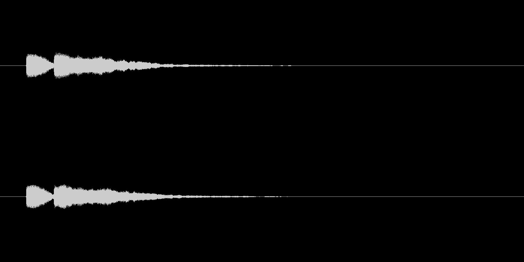 【ひらめき06-1】の未再生の波形