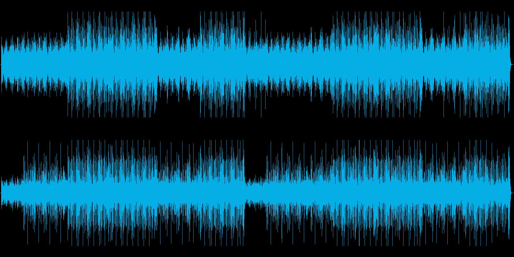 ノリノリのピアノ曲の再生済みの波形