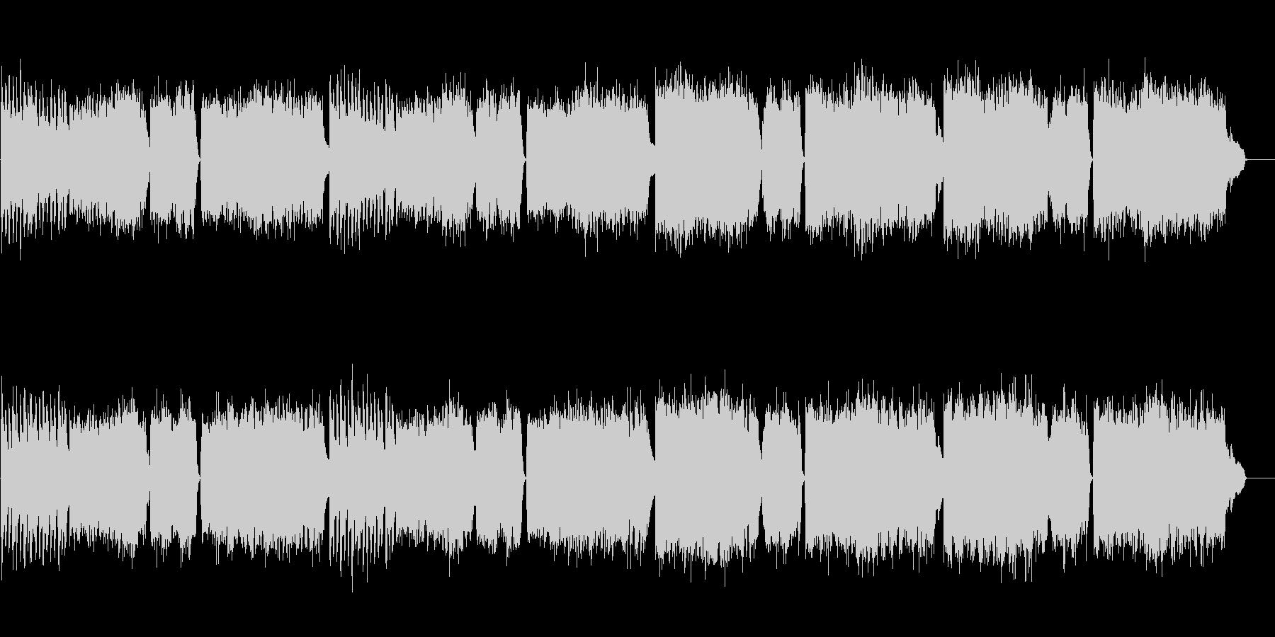 激しいチェンバロ曲 スカルラッティの未再生の波形