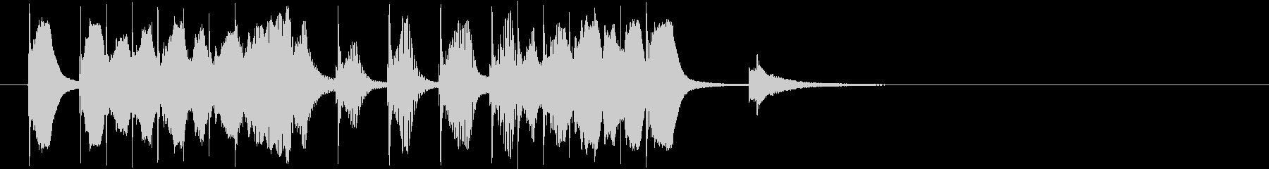 ゆるキャラのような可愛いコミカルジングルの未再生の波形