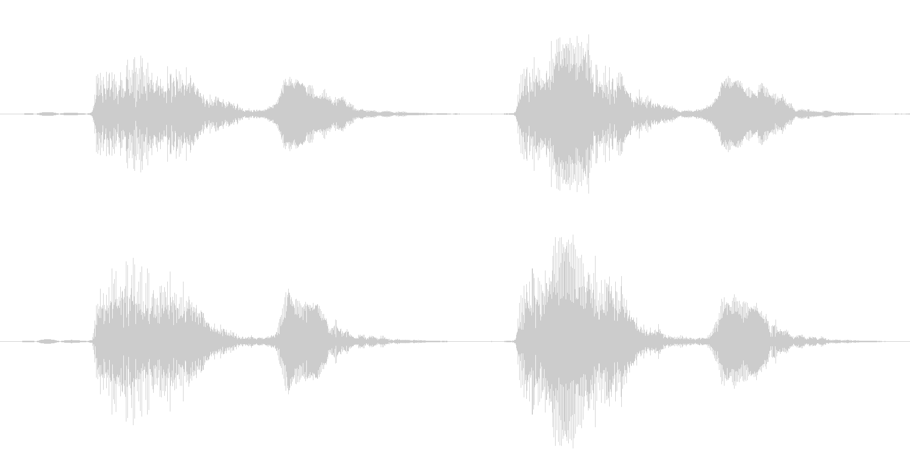 パフパフ(パフパフラッパの音)の未再生の波形