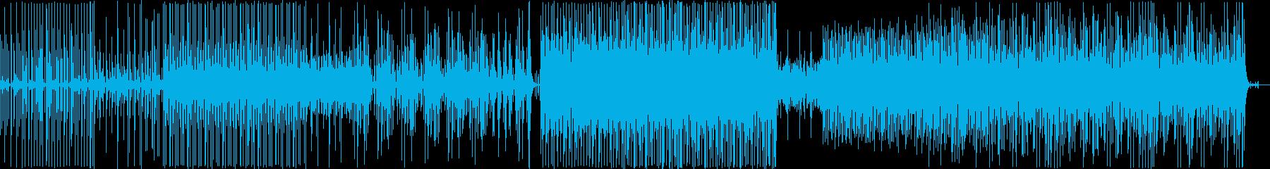 ほのぼの、爽やかなアコースティック楽曲の再生済みの波形