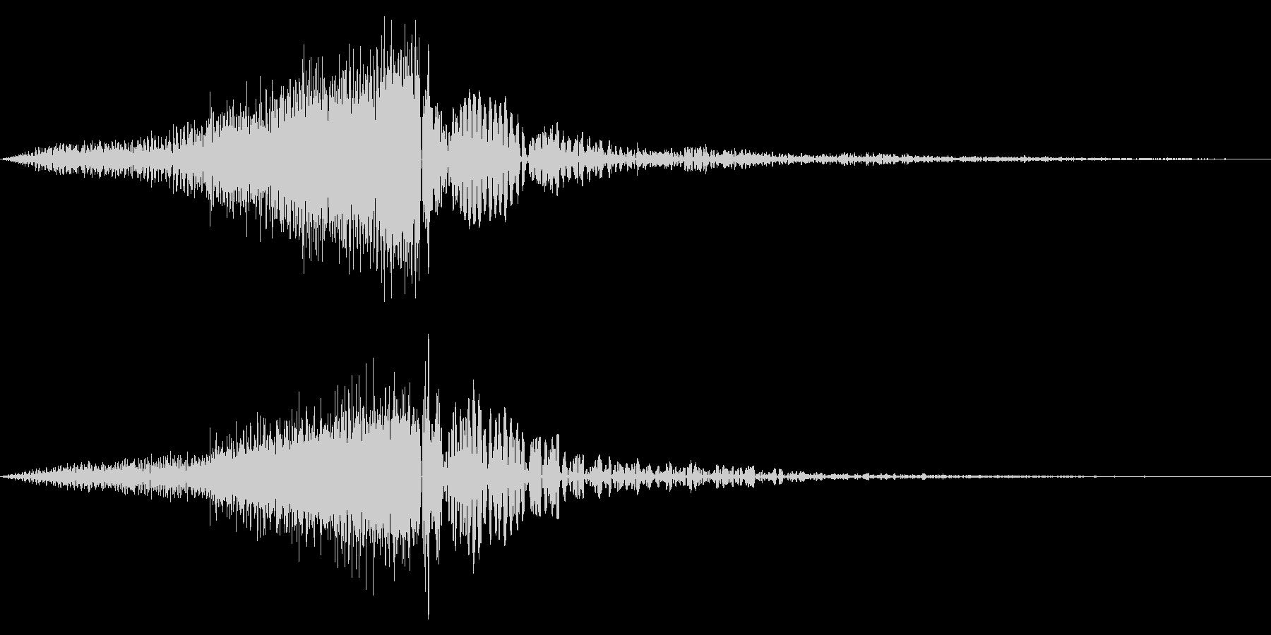 ホラー系アタック音134の未再生の波形