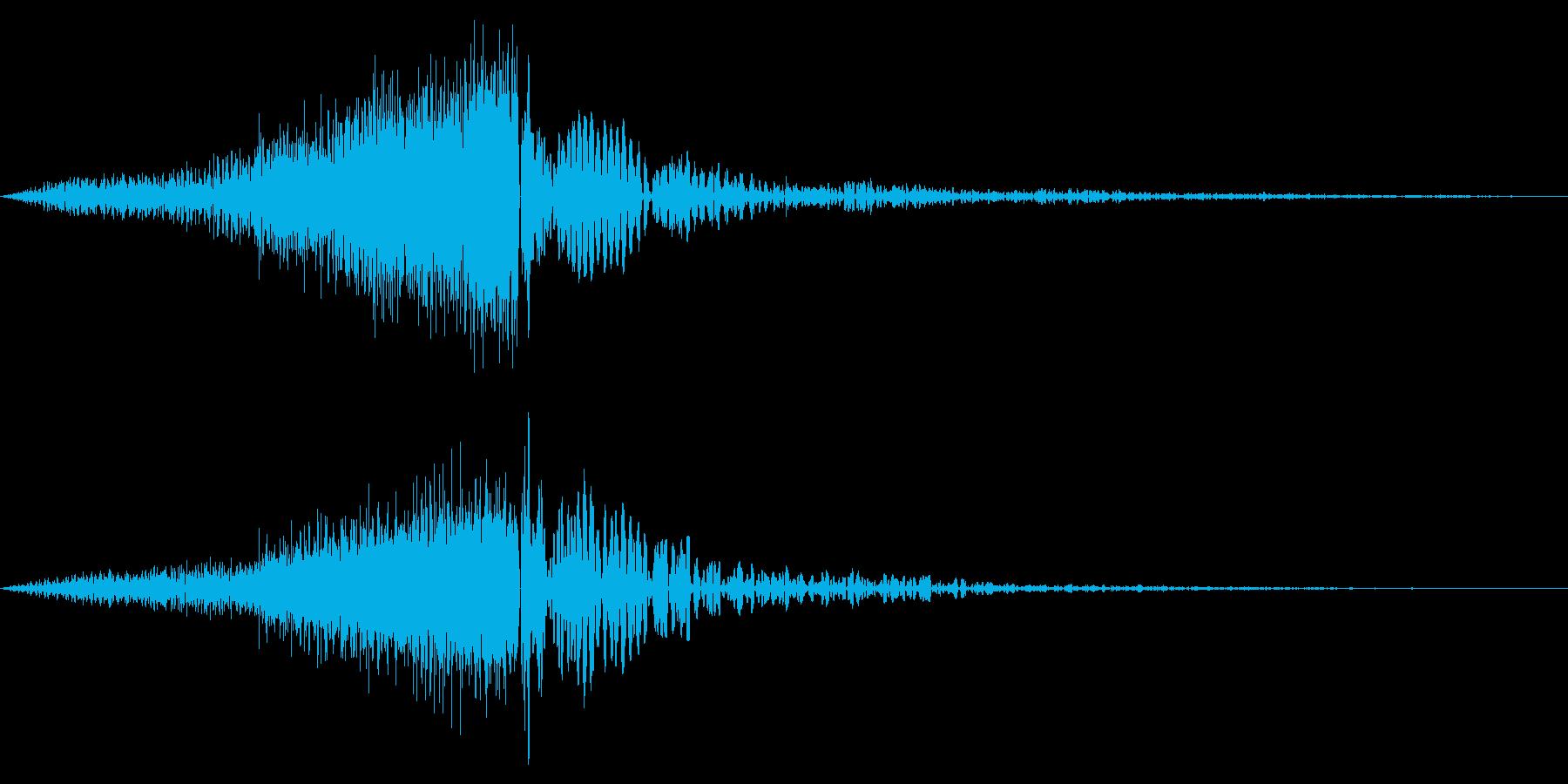 ホラー系アタック音134の再生済みの波形