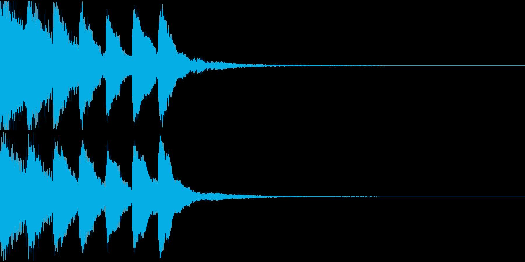 シンプル ベル チャイナ 中国風 09の再生済みの波形
