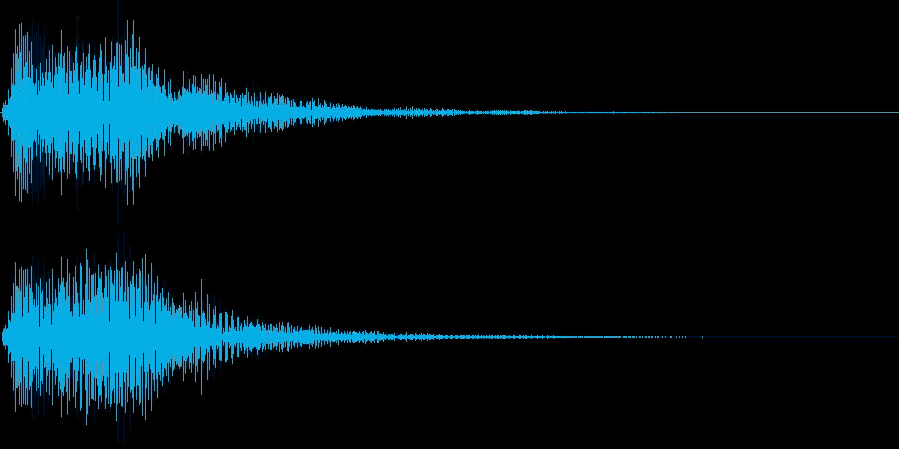デデデン(エラー、アイキャッチ、失敗)の再生済みの波形
