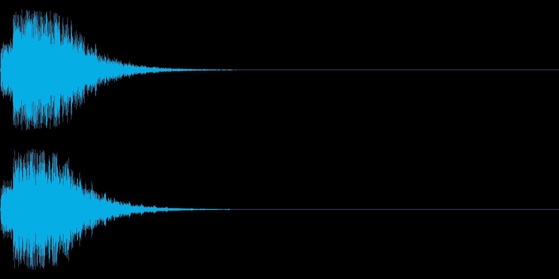 ドンドンドン・・・(強いショックの音)の再生済みの波形