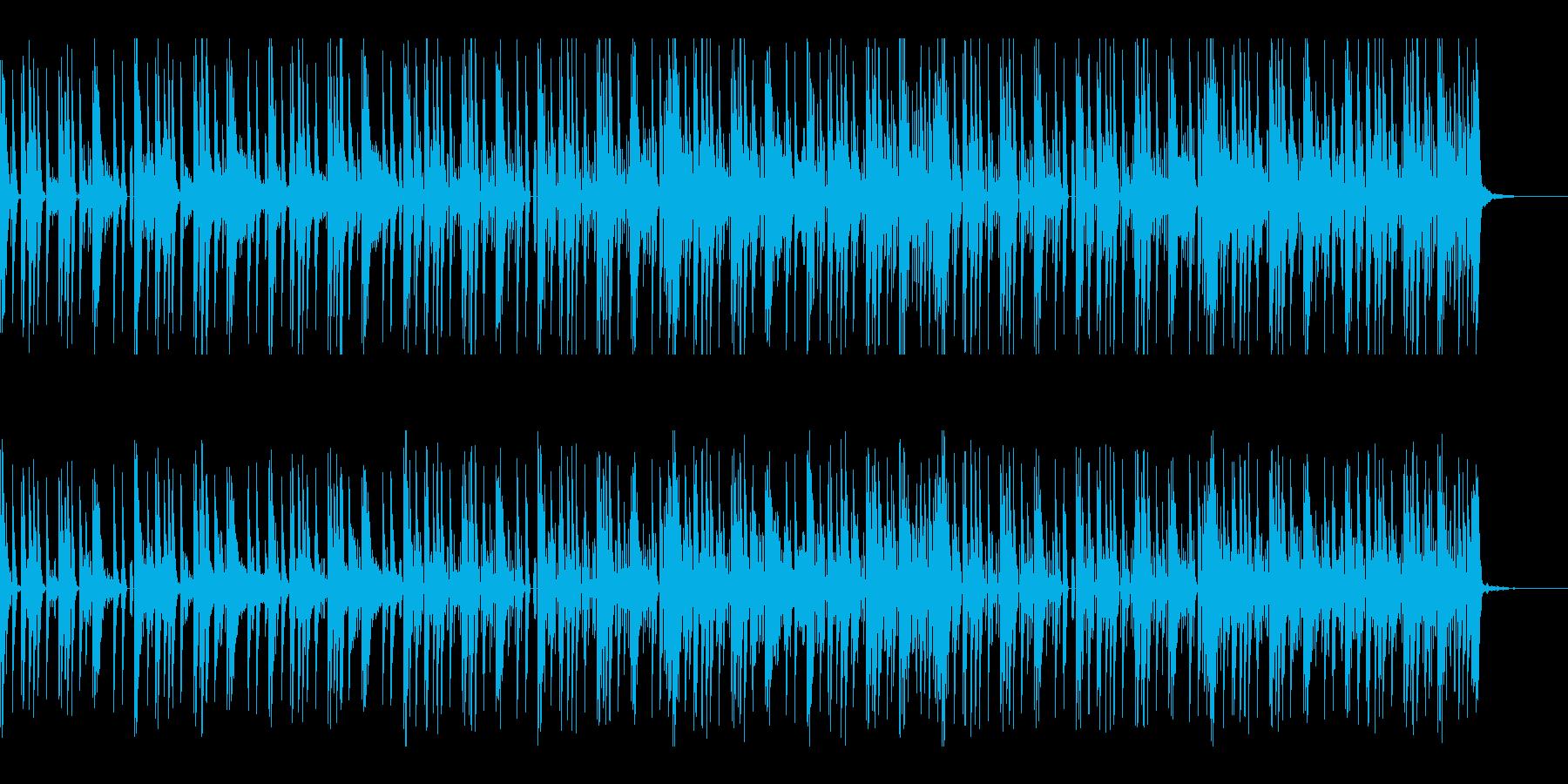 ギターがエスニックなエレクトロニカの再生済みの波形