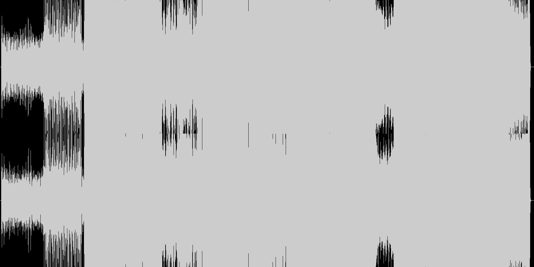 コミカルなアップテンポのガールズロックの未再生の波形