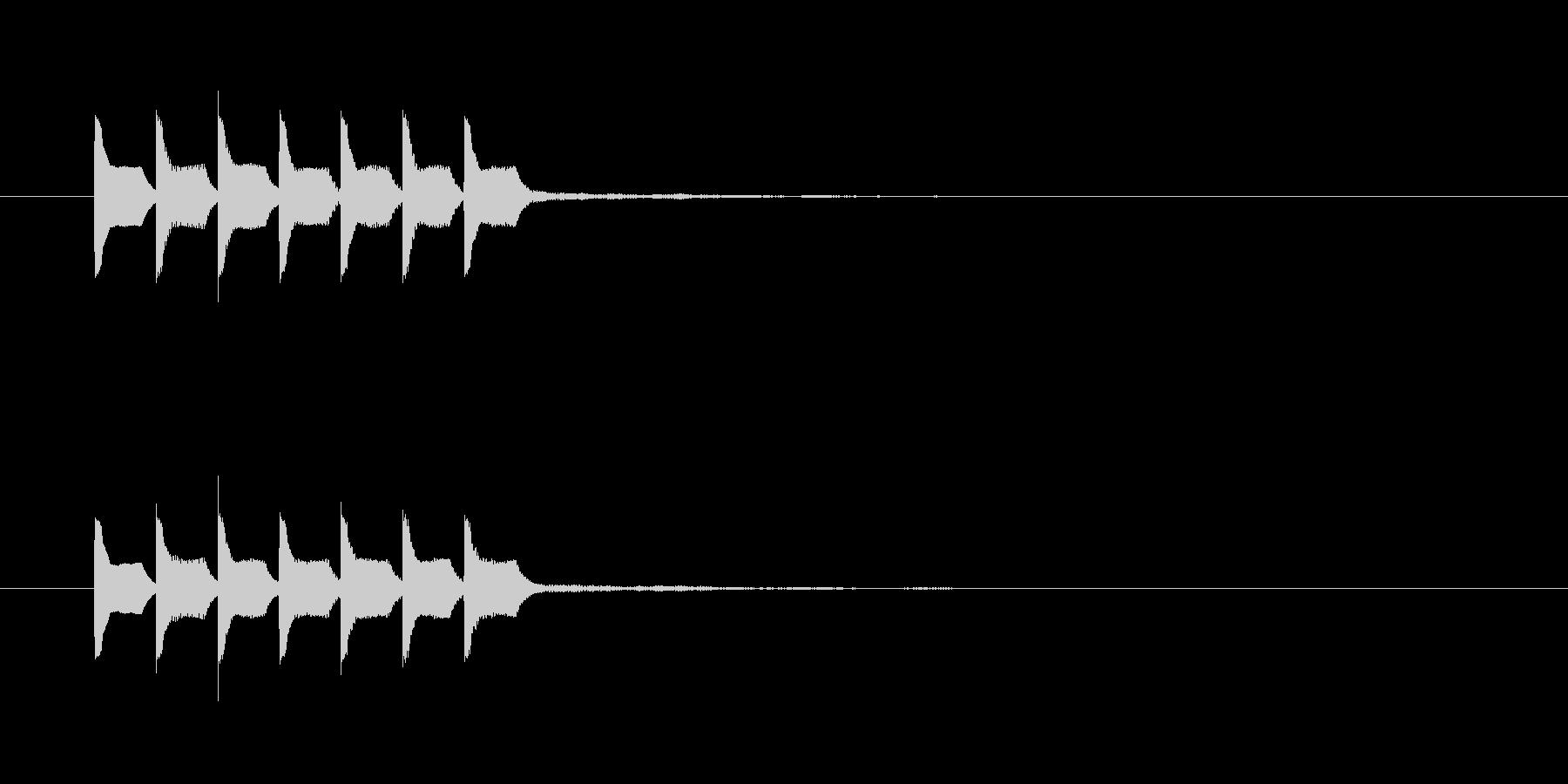 テテテテテテテの未再生の波形
