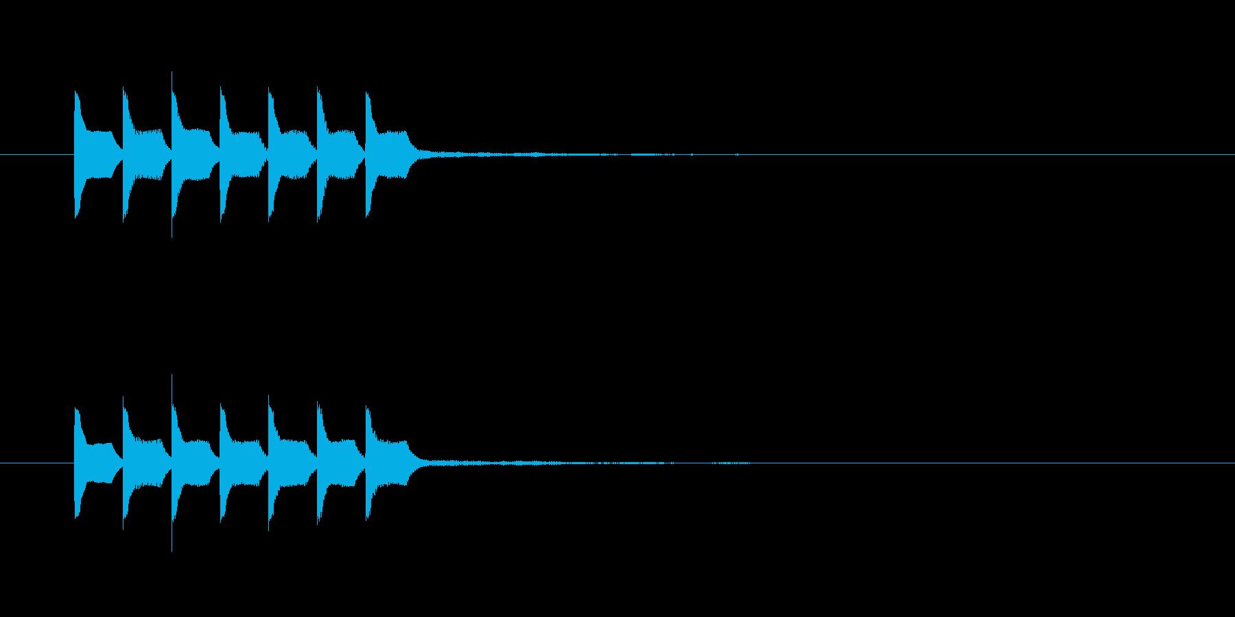 テテテテテテテの再生済みの波形