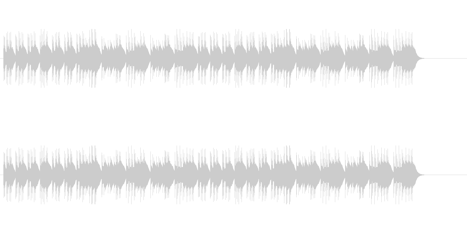 ジングルベルのシャッフル オルゴールの未再生の波形