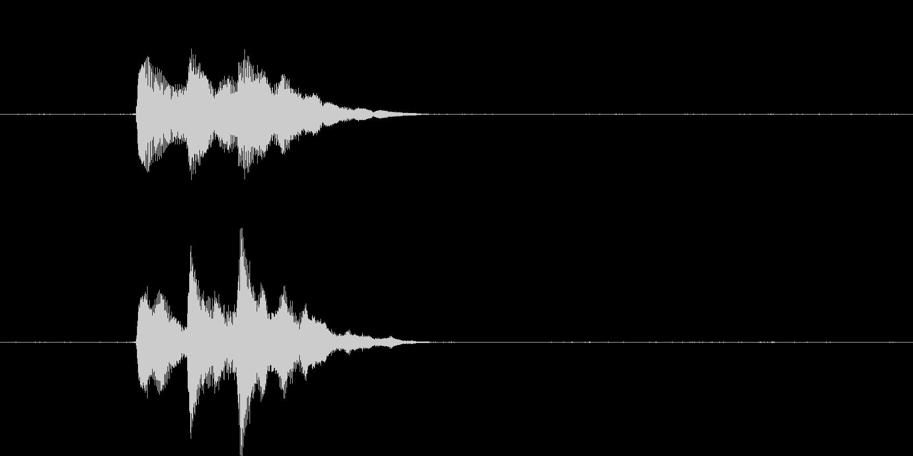 「ぴろりん」決定音やコイン・アイテムな…の未再生の波形