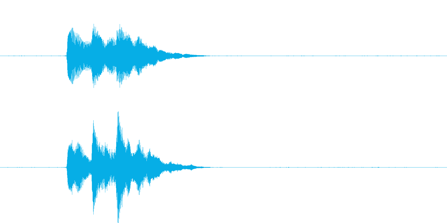 「ぴろりん」決定音やコイン・アイテムな…の再生済みの波形
