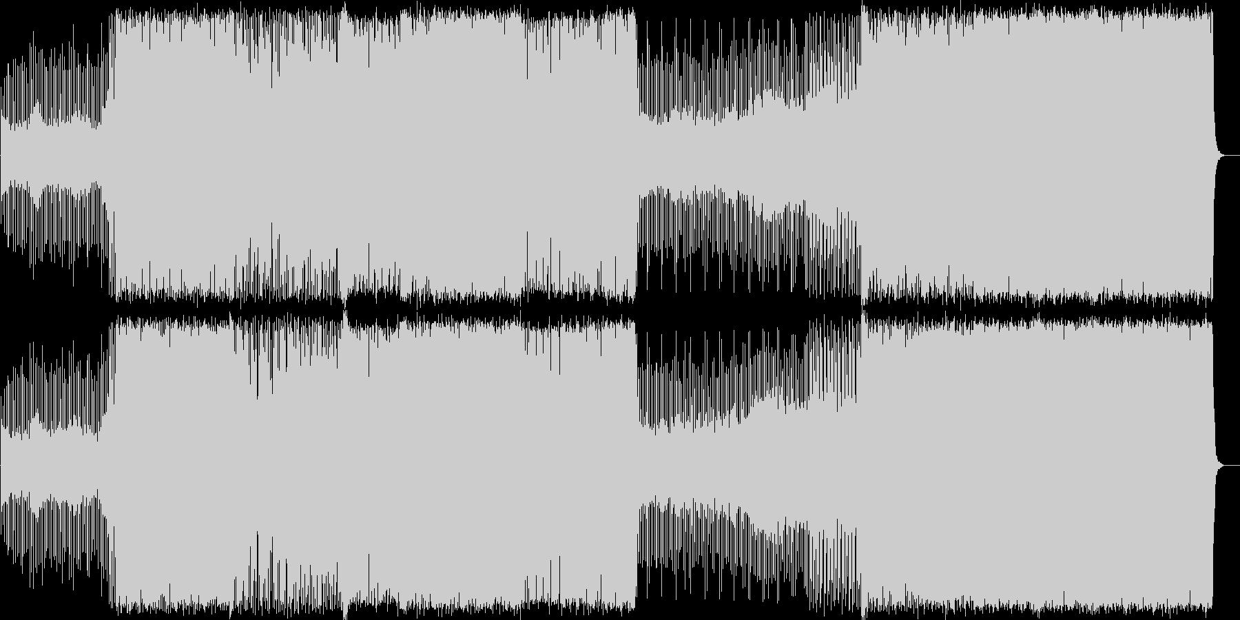 スピードのあるEDMの未再生の波形
