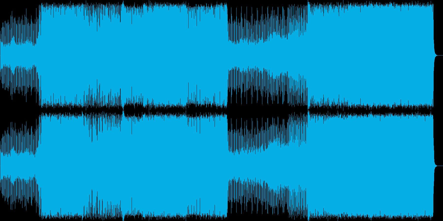 スピードのあるEDMの再生済みの波形