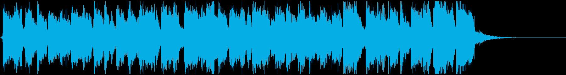 おもちゃ楽器のパレード、行進曲風15秒曲の再生済みの波形