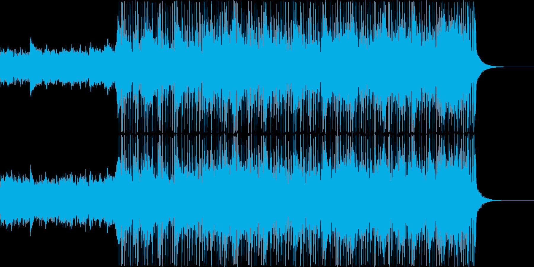 【1分】スラップベースが特徴的なフュージの再生済みの波形