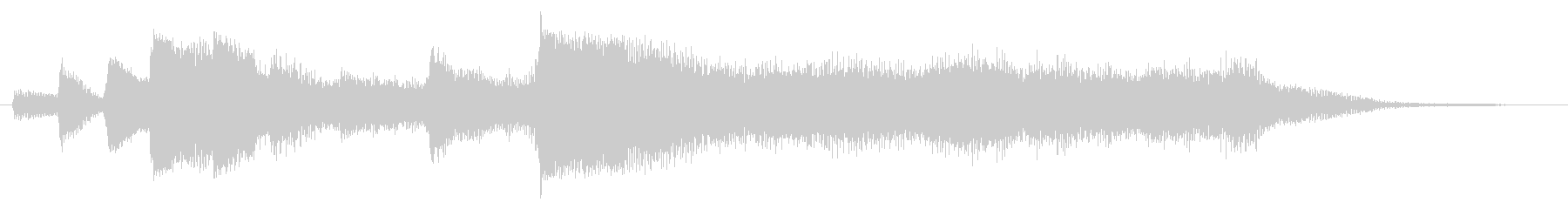 ハープとストリングスのジングル4の未再生の波形