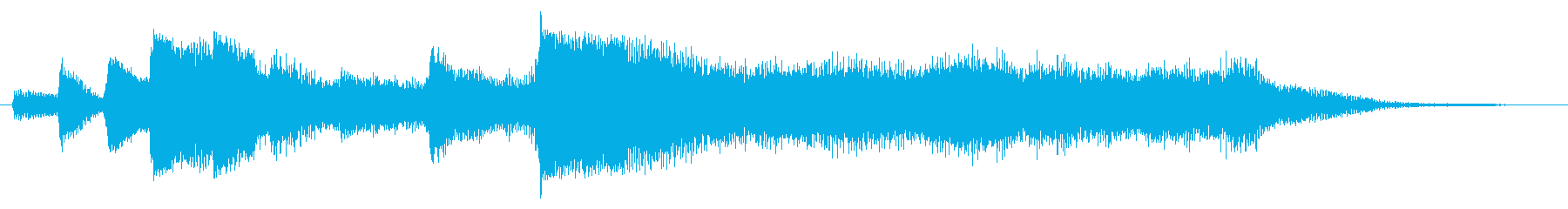 ハープとストリングスのジングル4の再生済みの波形