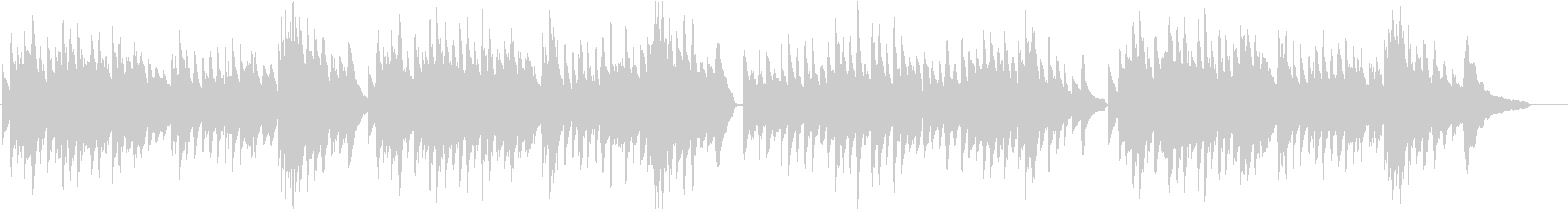 美しく心に響くワルツをピアノでの未再生の波形