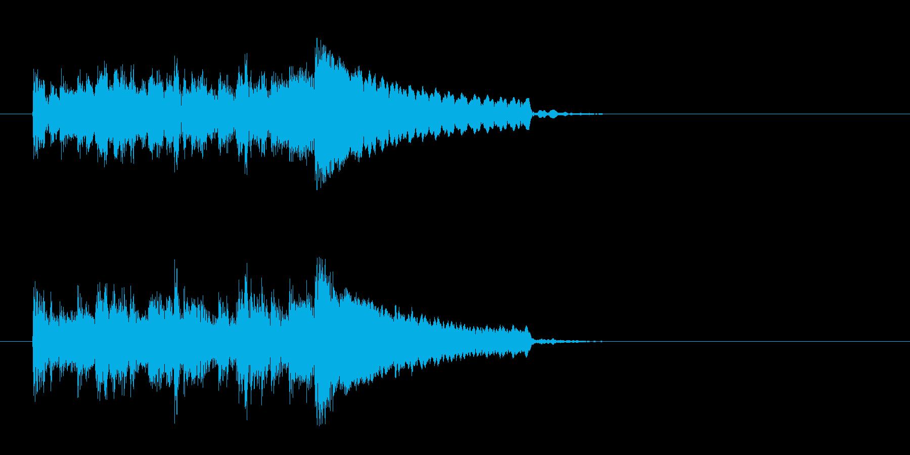 コーナー・エンド風ワールドなジングルの再生済みの波形