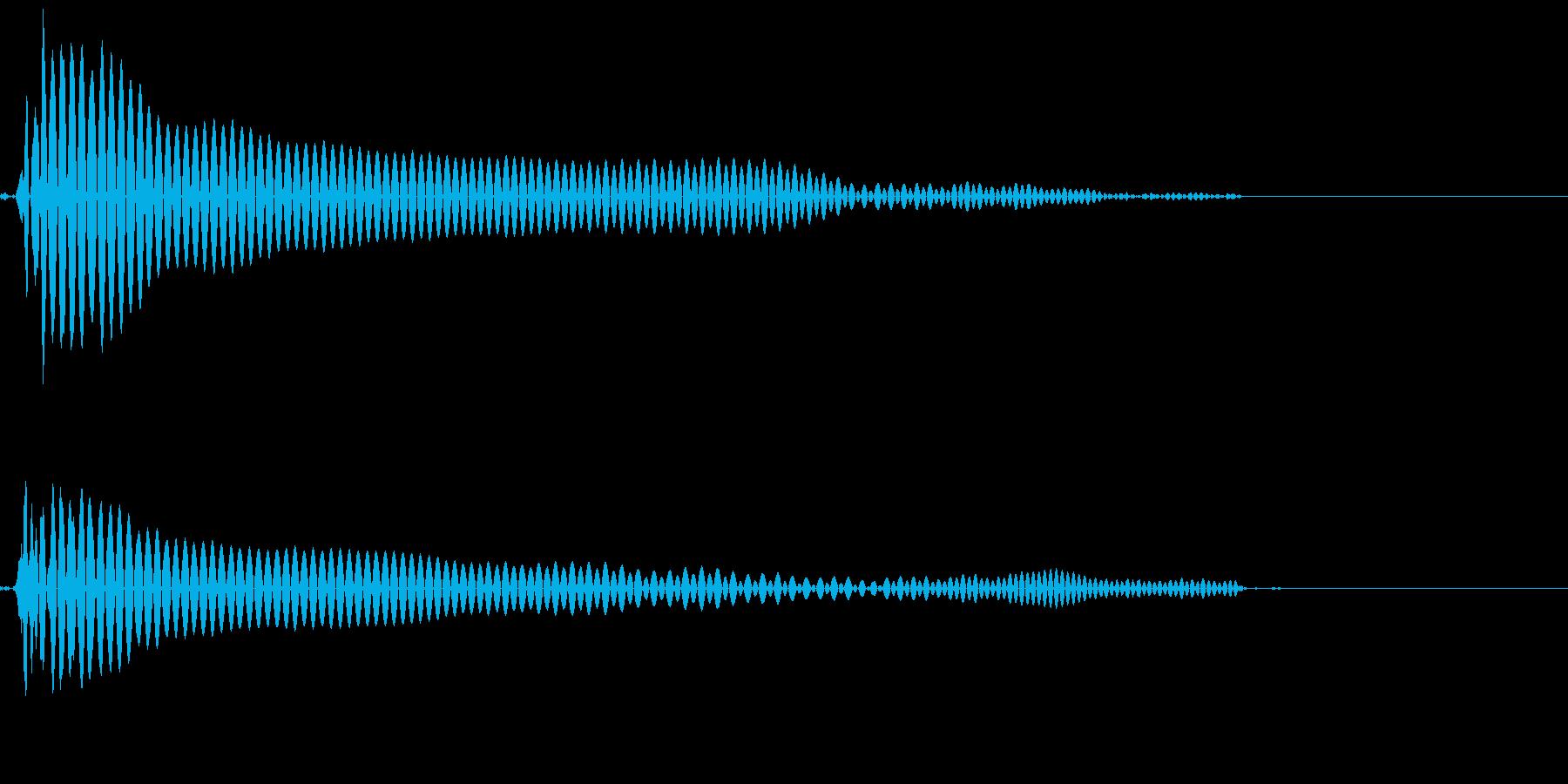 小さな水滴がピッと落ちるの再生済みの波形