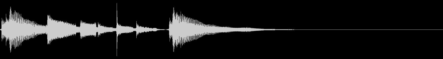 アコギ生音のジングル/爽やか5の未再生の波形