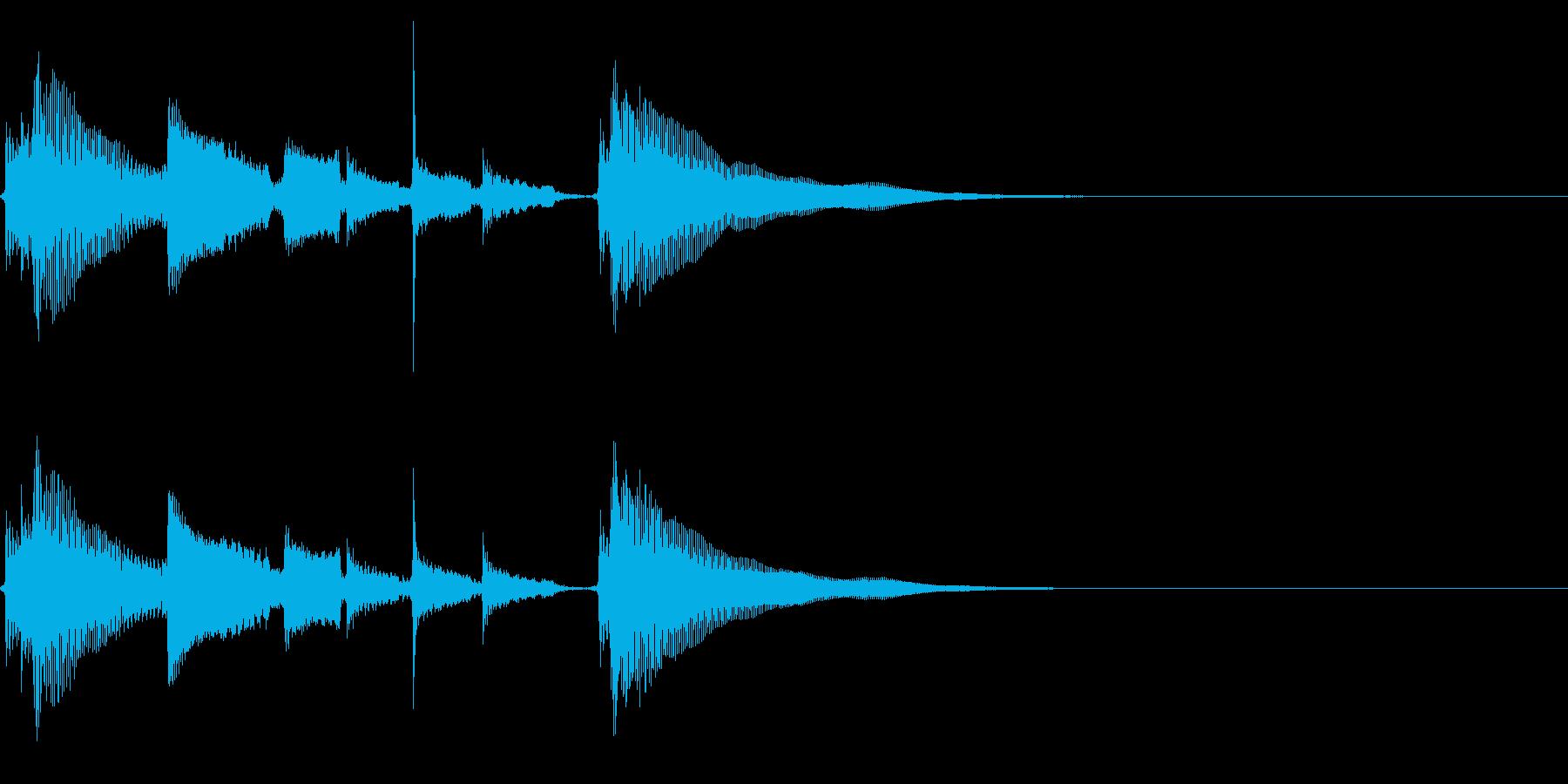 アコギ生音のジングル/爽やか5の再生済みの波形