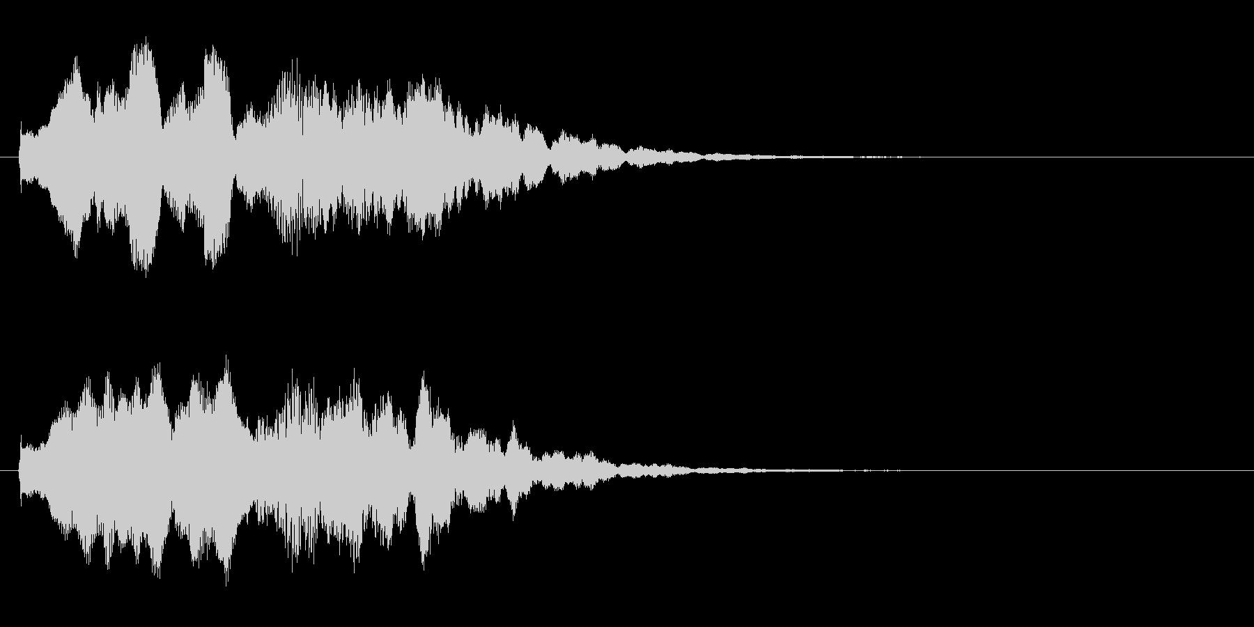 オリジナルの効果音の未再生の波形
