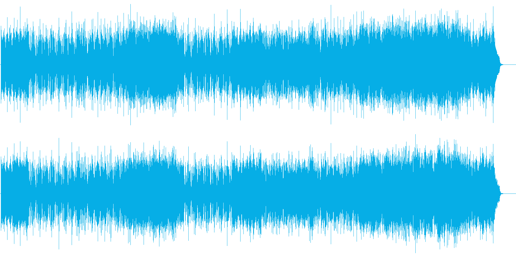 青空の爽やかな情報向けポップ/テーマの再生済みの波形