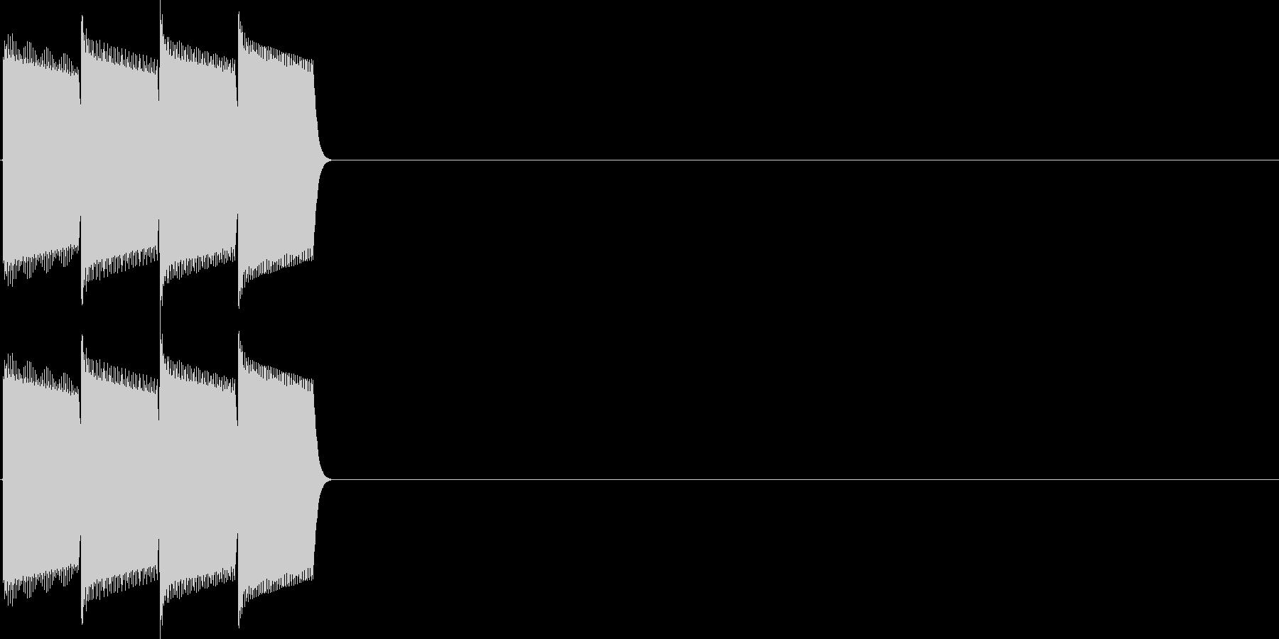決定音(ピロロロ)の未再生の波形