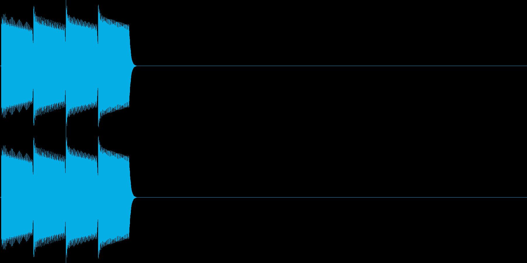 決定音(ピロロロ)の再生済みの波形