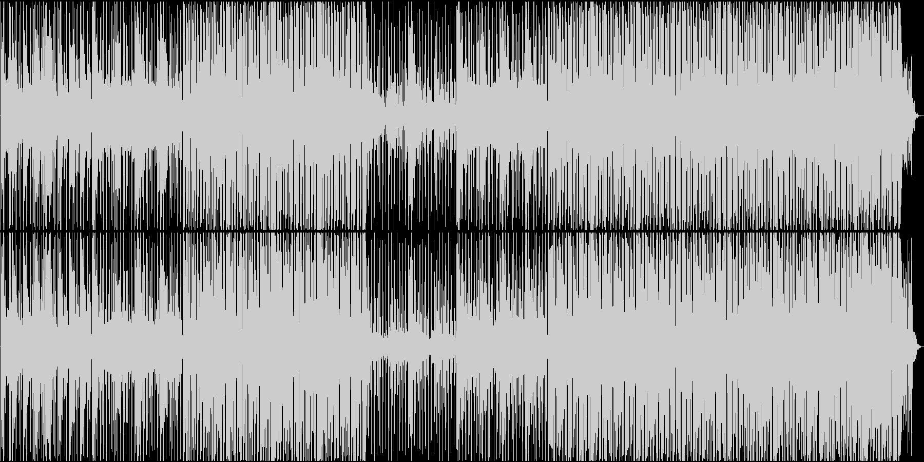 ビートははっきりしているが物悲しいBGMの未再生の波形