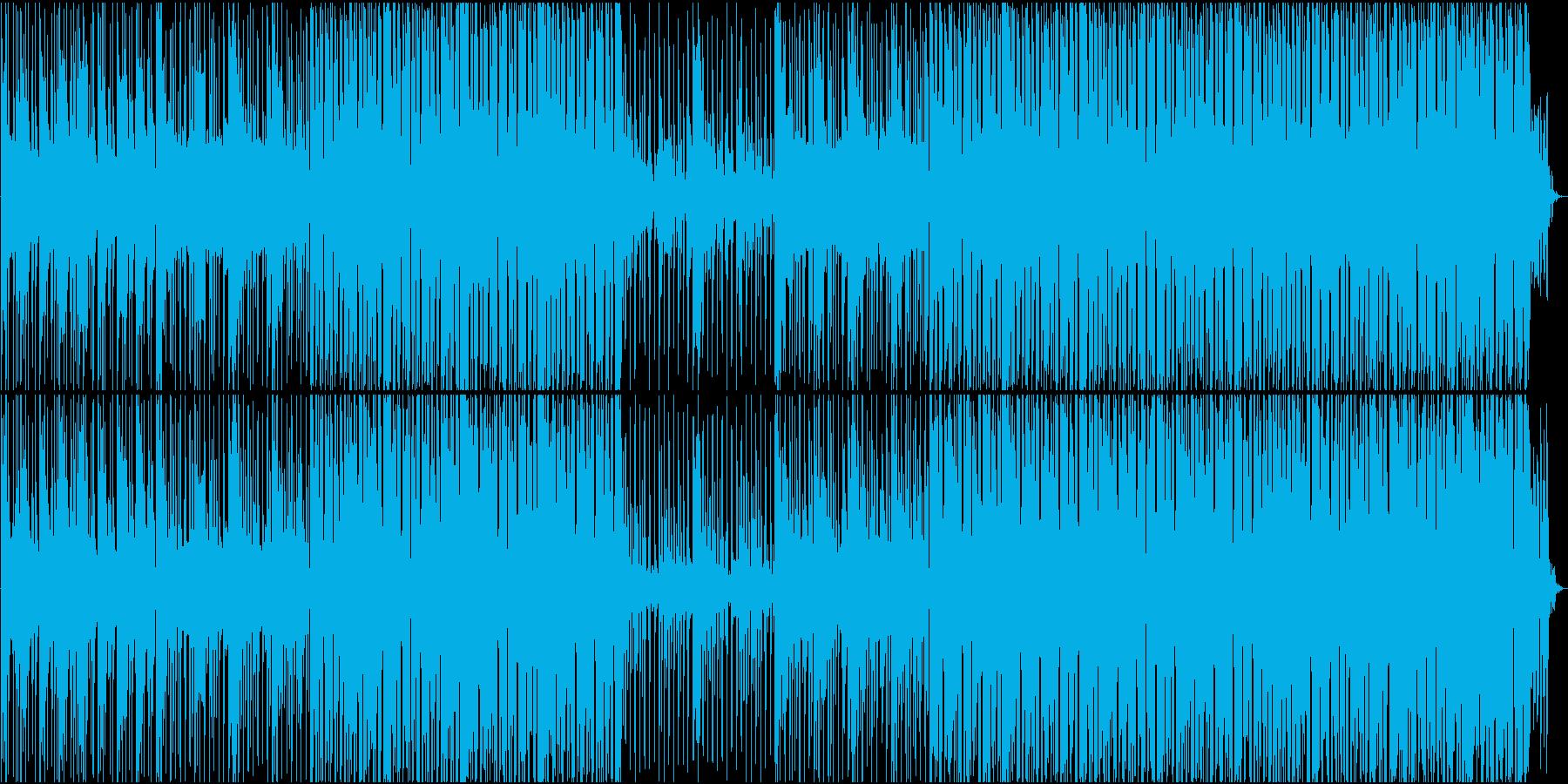 ビートははっきりしているが物悲しいBGMの再生済みの波形
