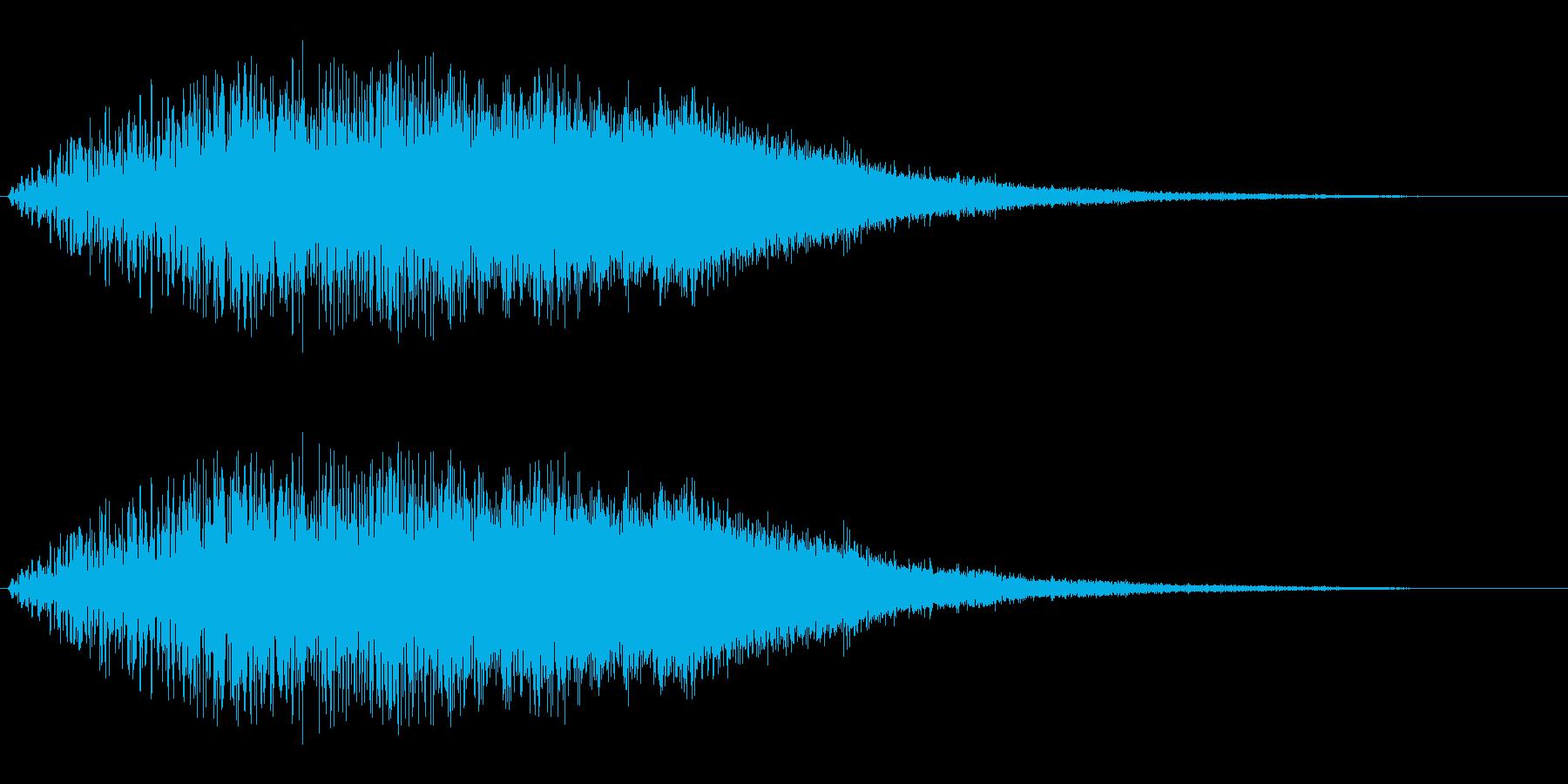 ガラガラワンワン(場面を変える展開音)の再生済みの波形