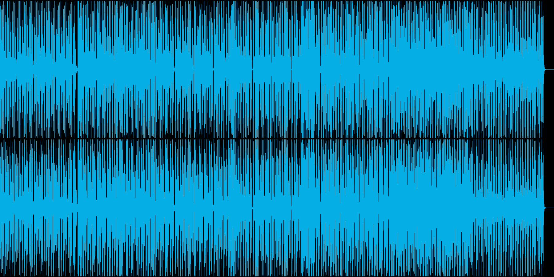 シンプルな構成の4つ打ちの再生済みの波形
