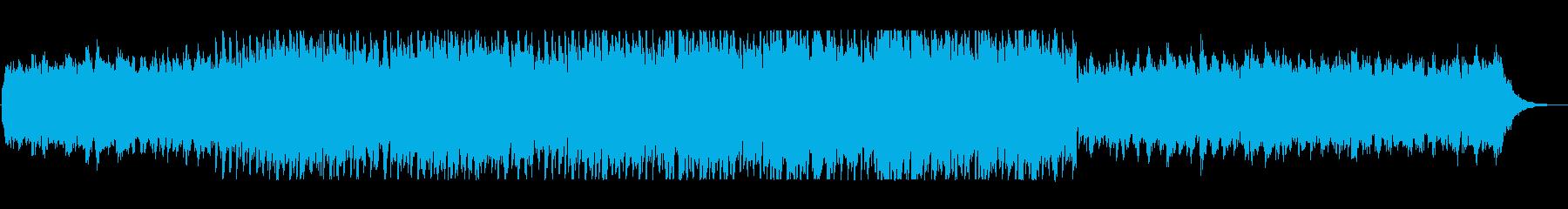 アップテンポの明るいポップサウンドの再生済みの波形