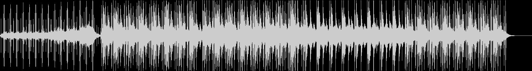 低音しっかり浮遊感のあるエレクトロの未再生の波形
