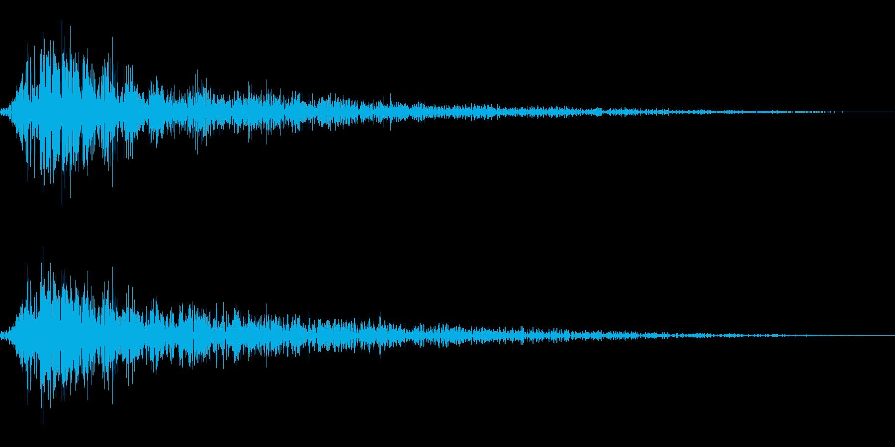 爆発音。の再生済みの波形