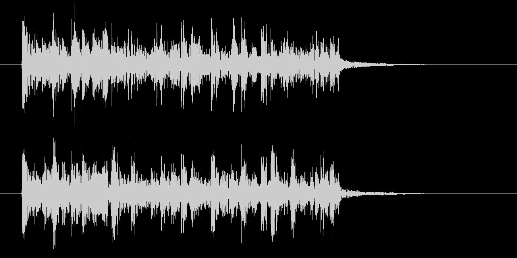幻想的でおしゃれなテクノ音楽の未再生の波形