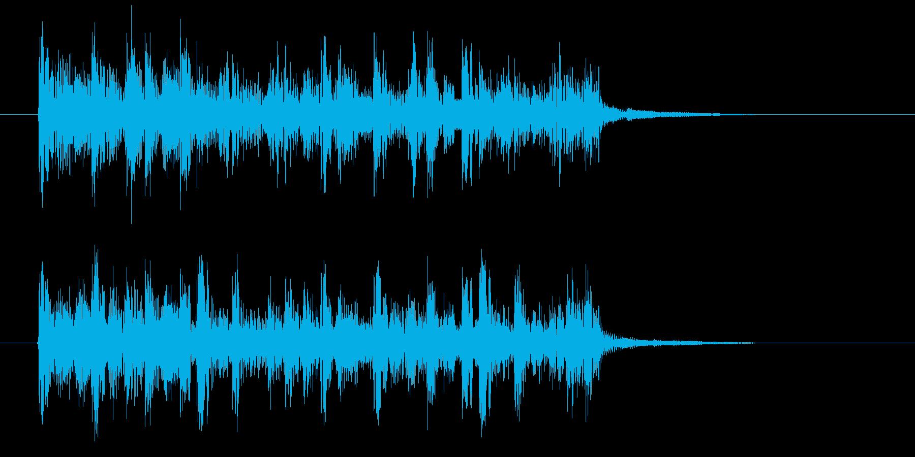 幻想的でおしゃれなテクノ音楽の再生済みの波形