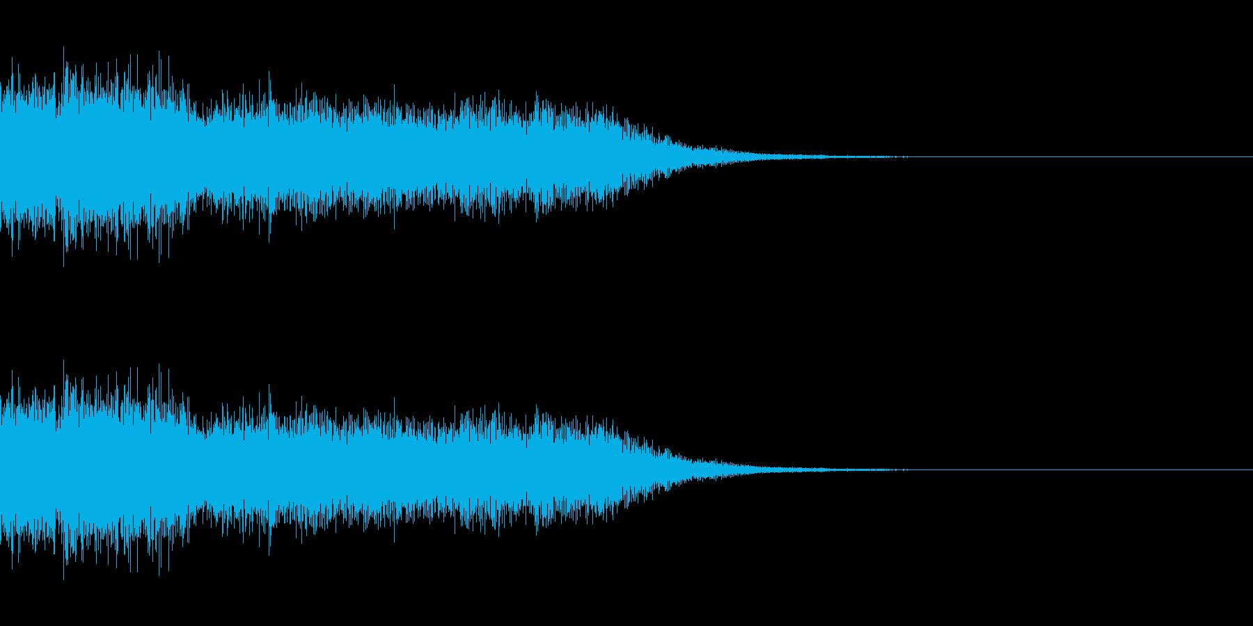 驚き01(ジャジャーン)の再生済みの波形