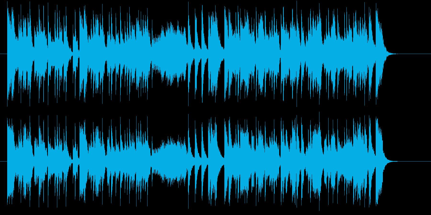 アップテンポのポップスの再生済みの波形