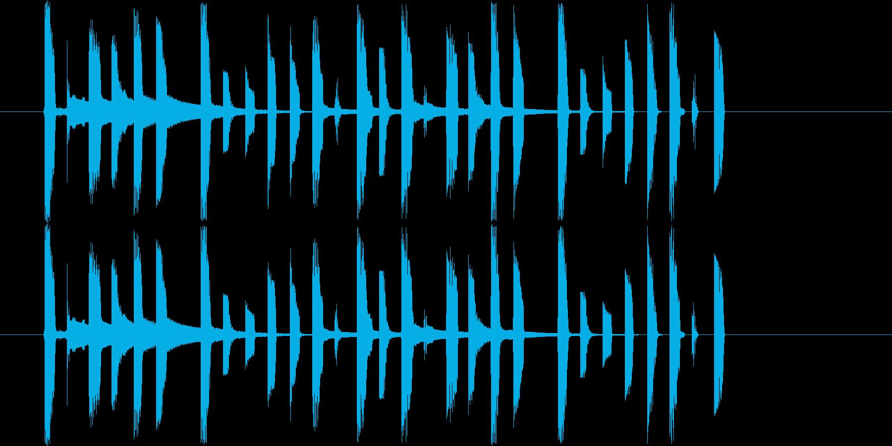 ファミコン風のかわいらしいジングルの再生済みの波形