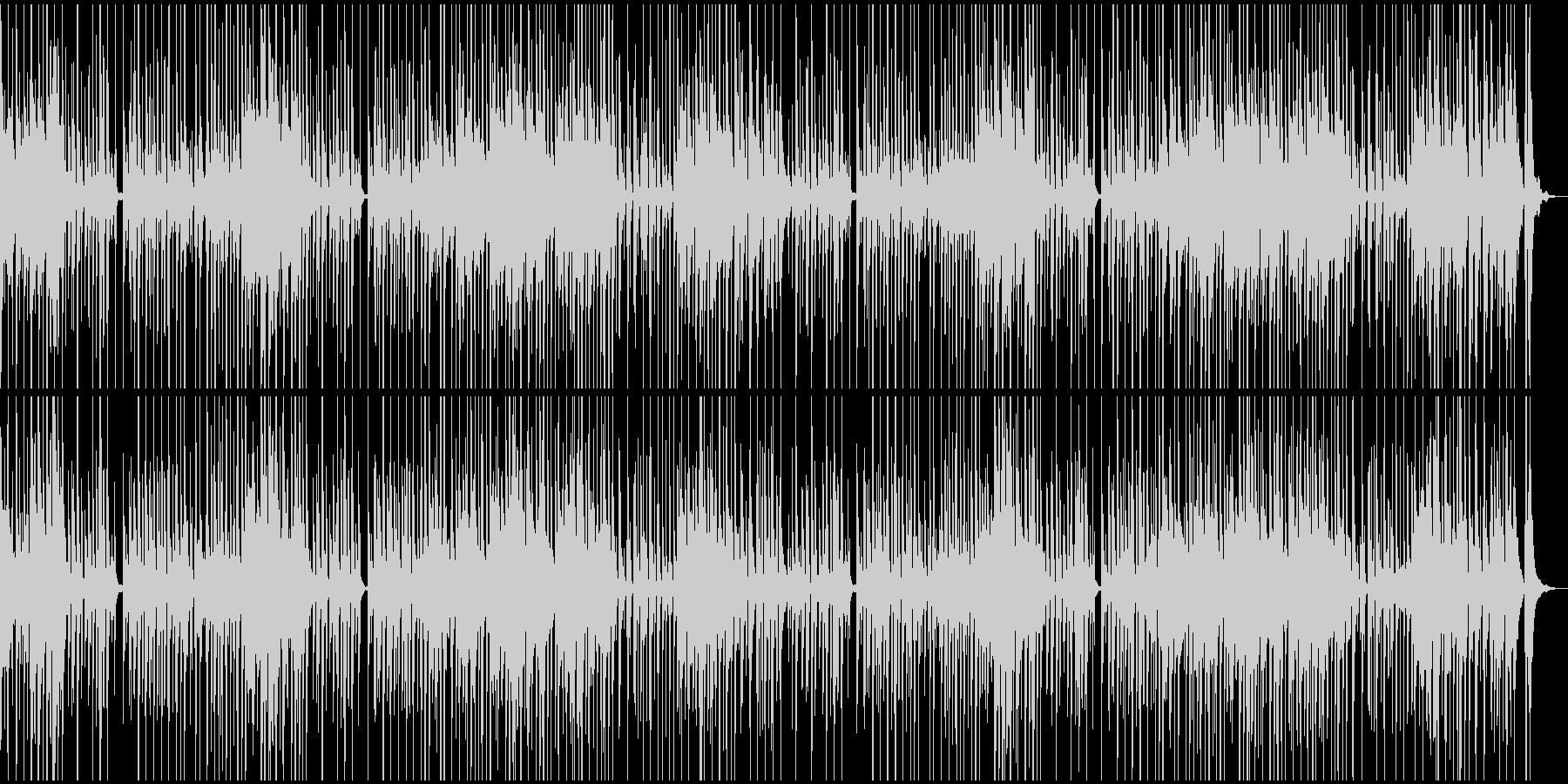 ほのぼの、可愛い感じのBGMの未再生の波形