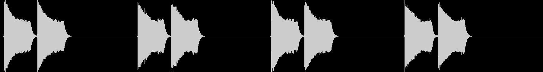 ピピッピピッ(大型車の右左折のアラート)の未再生の波形