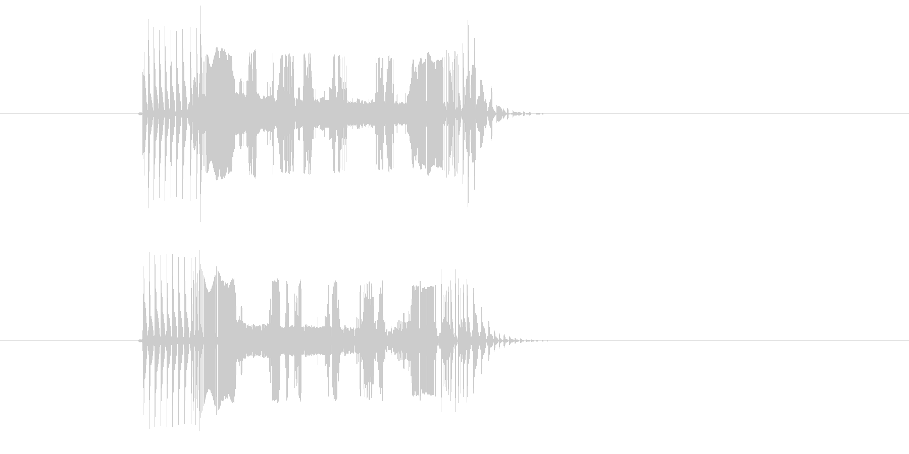 ブチブチチューン(テープ、機械)の未再生の波形
